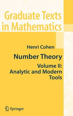 Number Theory by Henri Cohen