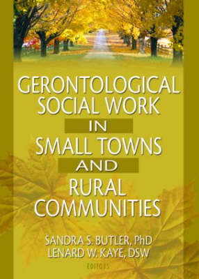Gerontological Social Work in Small Towns and Rural Communities by Lenard W Kaye