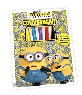 Minions the Rise of Gru: Colouring Kit (Universal) book
