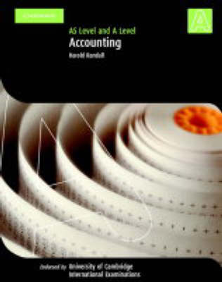 Accounting A Level and AS Level by Harold Randall