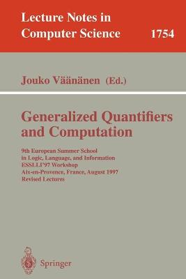 Generalized Quantifiers and Computation by Jouko Vaananen