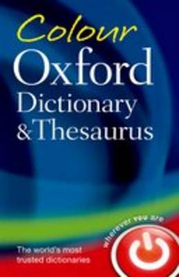 Colour Oxford Dictionary & Thesaurus book