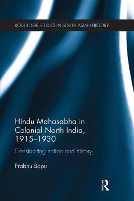 Hindu Mahasabha in Colonial North India, 1915-1930 book