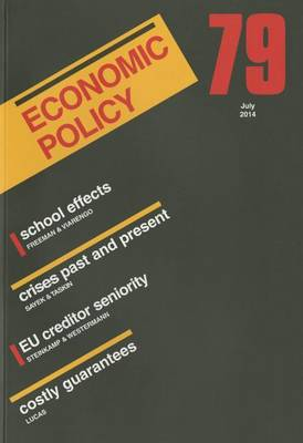 Economic Policy 79  79 by Georges De Menil