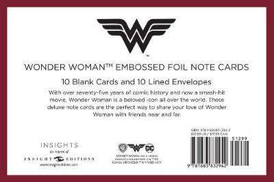 DC Comics: Wonder Woman Embossed Foil Note Cards (Set Of 10) by Insight Editions