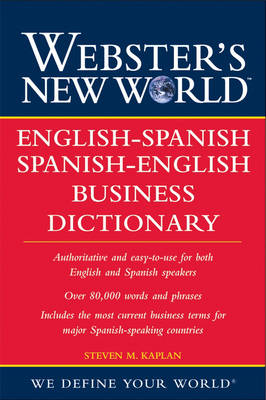 Webster's New World English-Spanish/Spanish-English Business Dictionary book