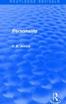 Personality by F B Jevons