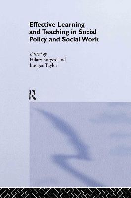Effective Learning and Teaching in Social Work and Social Policy book