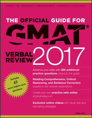 The Official Guide for GMAT Verbal Review 2017 with Online Question Bank and Exclusive Video by Graduate Management Admission Council (GMAC)