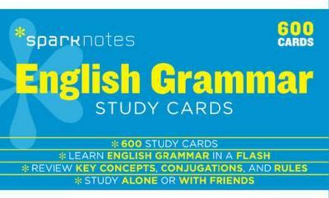 English Grammar SparkNotes Study Cards by SparkNotes
