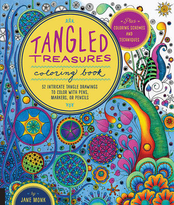 Tangled Treasures Coloring Book by Jane Monk