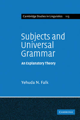 Subjects and Universal Grammar by Yehuda N. Falk