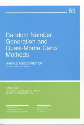 Random Number Generation and Quasi-Monte Carlo Methods by Harald Niederreiter