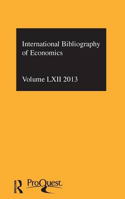 IBSS: Economics  Volume 62 by Compiled by the British Library of Political and Economic Science
