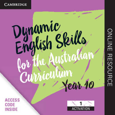 Dynamic English Skills for the Australian Curriculum Year 10 1 Year Subscription: A multi-level approach book