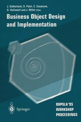 Business Object Design and Implementation by Jeffrey V. Sutherland