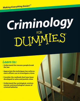 Criminology For Dummies by Steven Briggs