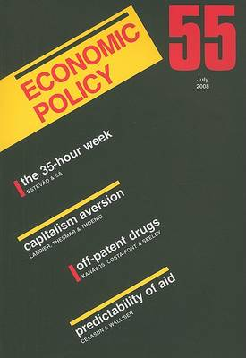 Economic Policy: A European Forum: 55 by Georges De Menil