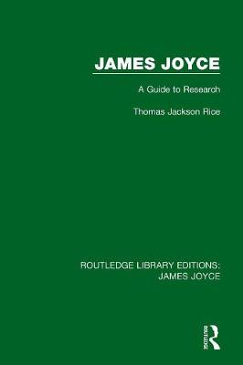 James Joyce: A Guide to Research book