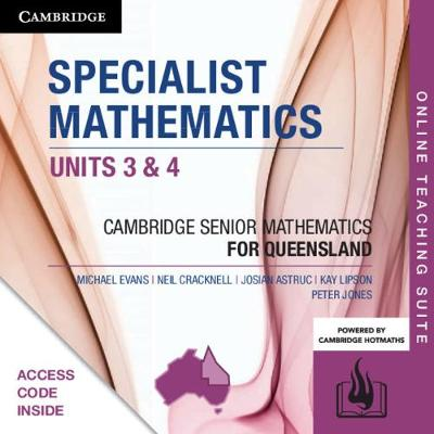 CSM QLD Specialist Mathematics Units 3 and 4 Online Teaching Suite (Card) by Michael Evans