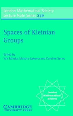 Spaces of Kleinian Groups book