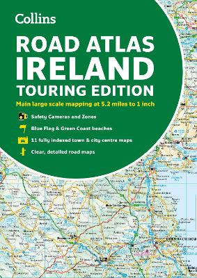 Road Atlas Ireland: Touring edition A4 Paperback (Collins Road Atlas) by Collins Maps