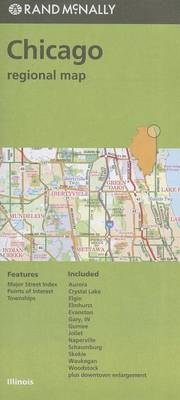 Folded Map Chicago & Vicinity Regional Il by Rand McNally