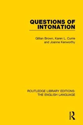 Questions of Intonation book