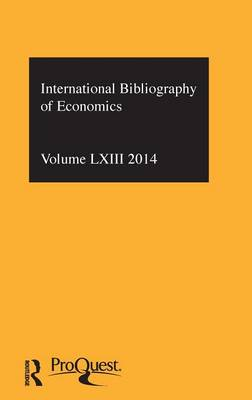 IBSS: Economics  Volume 63 by Compiled by the British Library of Political and Economic Science