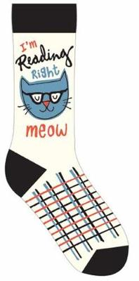 I'm Reading Right Meow Socks by Gibbs Smith Publisher