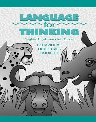 Language for Thinking Grades 1-3, Behavioral Objectives Book by McGraw-Hill Education