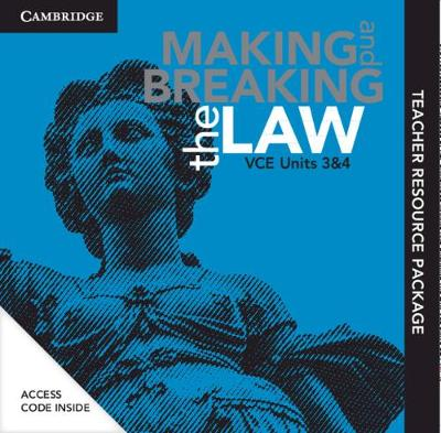 Cambridge Making and Breaking the Law VCE Units 3 and 4 Teacher Resource (Card) book