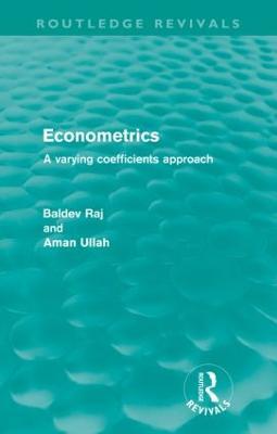 Econometrics: A Varying Coefficents Approach by Baldev Raj