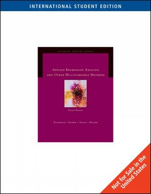 Applied Regression Analysis and Multivariable Methods, International Edition by Keith E. Muller