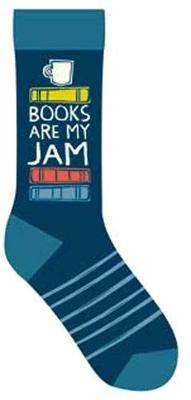 Books Are My Jam Socks by Gibbs Smith Publisher
