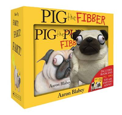 Pig the Fibber + Farting Plush boxed set book