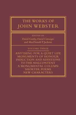 Works of John Webster: Volume 3 book