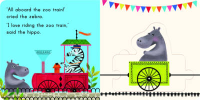 Connect a Book Zoo Train book
