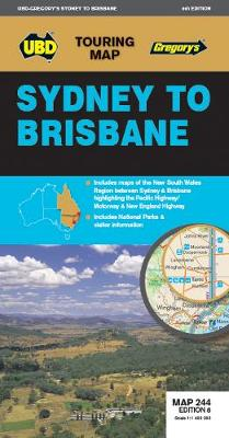 Sydney to Brisbane Map 244 8th ed book