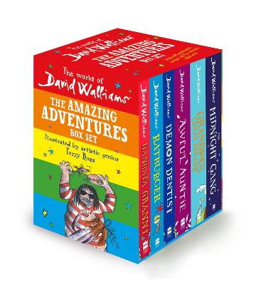 The World of David Walliams: The Amazing Adventures Box Set: Gangsta Granny; Ratburger; Demon Dentist; Awful Auntie; Grandpa's Great Escape; The Midnight Gang by David Walliams
