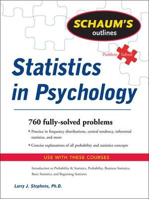 Schaum's Outline of Statistics in Psychology by Larry Stephens