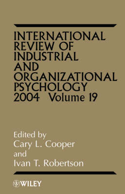 International Review of Industrial and Organizational Psychology 2004 book