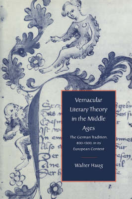 Vernacular Literary Theory in the Middle Ages book