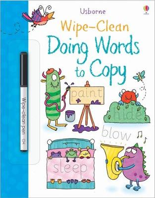 Wipe-Clean Doing Words to Copy book