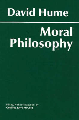 Hume: Moral Philosophy by David Hume