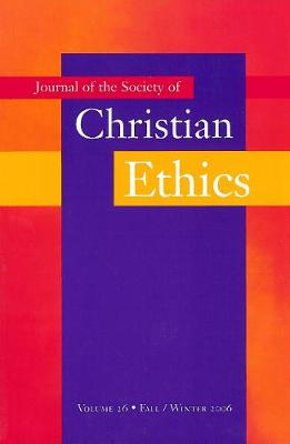 Journal of the Society of Christian Ethics by Mary Jo Iozzio