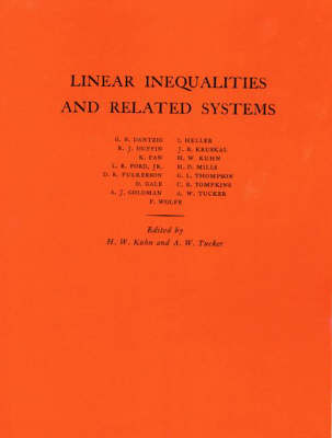 Linear Inequalities and Related Systems. (AM-38), Volume 38 by Harold William Kuhn