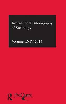 IBSS: Sociology  Volume 64 by Compiled by the British Library of Political and Economic Science